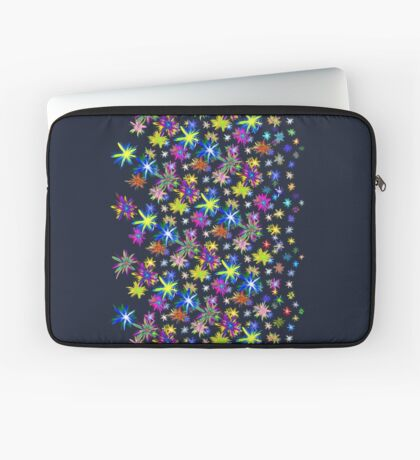 Flower blast structured chaos in stratosphere #fractal art Laptop Sleeve