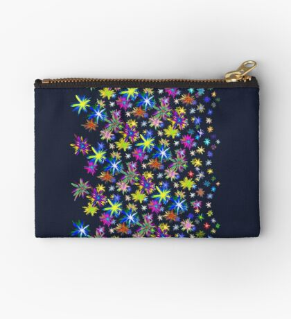 Flower blast structured chaos in stratosphere #fractal art Zipper Pouch