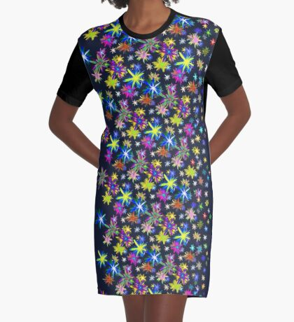 Flower blast structured chaos in stratosphere #fractal art Graphic T-Shirt Dress