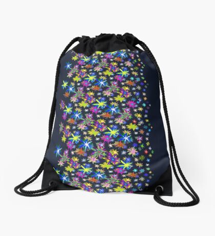 Flower blast structured chaos in stratosphere #fractal art Drawstring Bag
