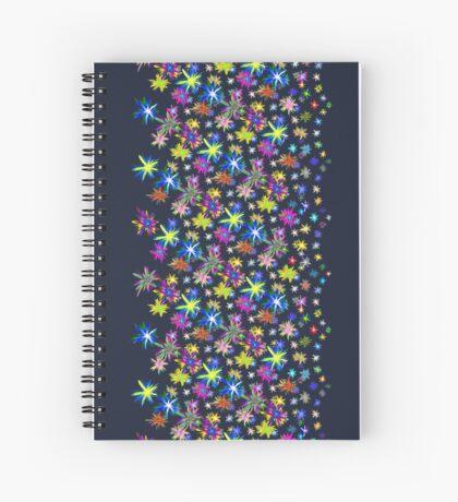 Flower blast structured chaos in stratosphere #fractal art Spiral Notebook