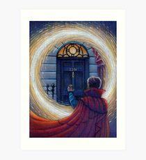 Sherlock Strange Art Print