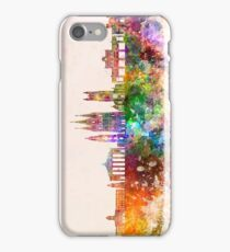 Cork skyline in watercolor background iPhone Case/Skin