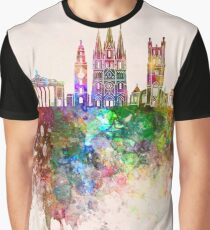 Cork skyline in watercolor background Graphic T-Shirt