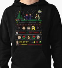 The X-Files Christmas - Santa is Out There Pullover Hoodie