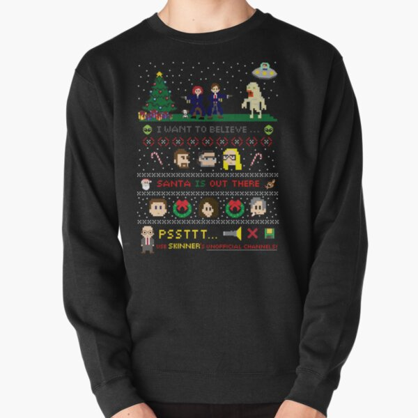 The X-Files Christmas - Santa is Out There Pullover Sweatshirt