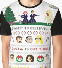 The X-Files Christmas - Santa is Out There Graphic T-Shirt