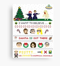 The X-Files Christmas - Santa is Out There Canvas Print