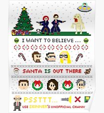 The X-Files Christmas - Santa is Out There Poster