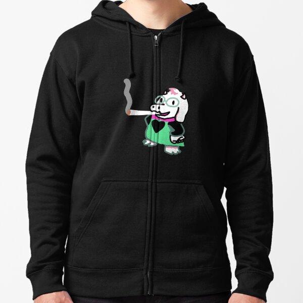 Ralsei Blunt design Zipped Hoodie