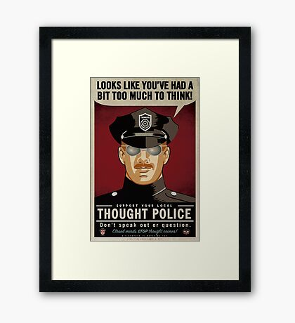 Thought Police Framed Print