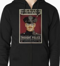 Thought Police Zipped Hoodie