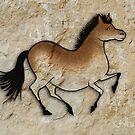 Cave Art Horse - Cheval No.6 by Jan Szymczuk