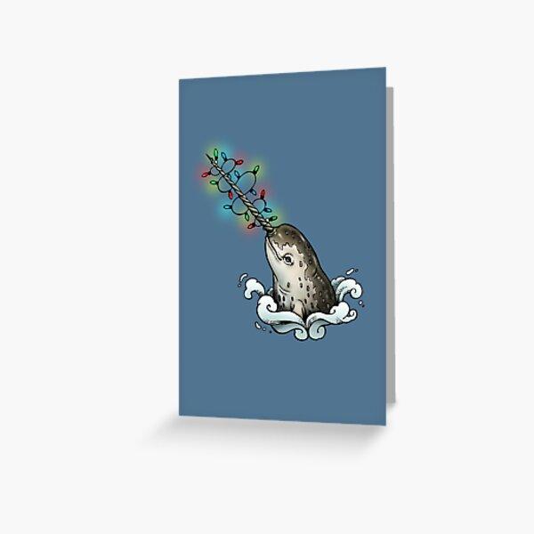 Christmas narwhal Greeting Card