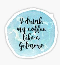 gilmore girls coffee Sticker