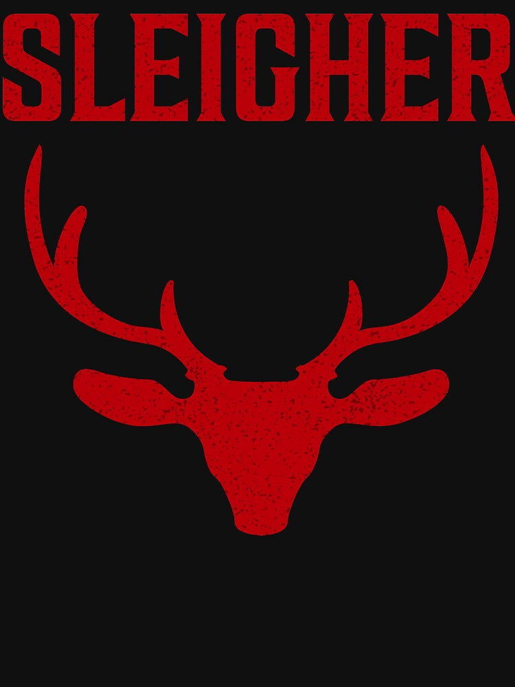 Sleigher Funny Metal Christmas T Shirt by bitsnbobs