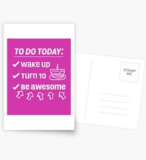 10th Birthday Checklist Be Awesome 10 Years Old T-Shirt Postcards
