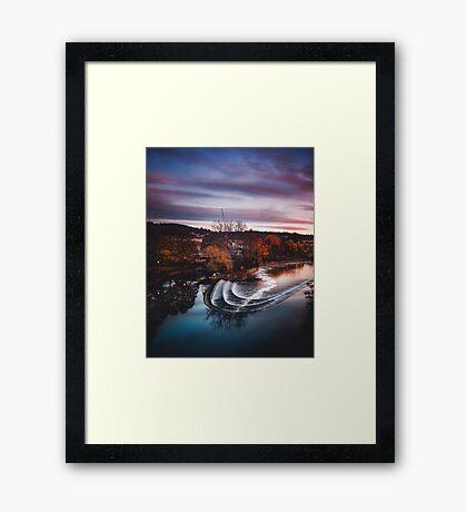 From across the pond Framed Print