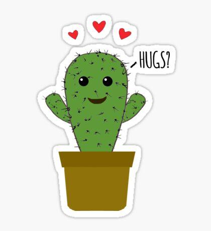 Affectionate Cactus Sticker