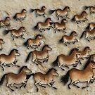 Cave Art Horses - Herd of Cheval by Jan Szymczuk