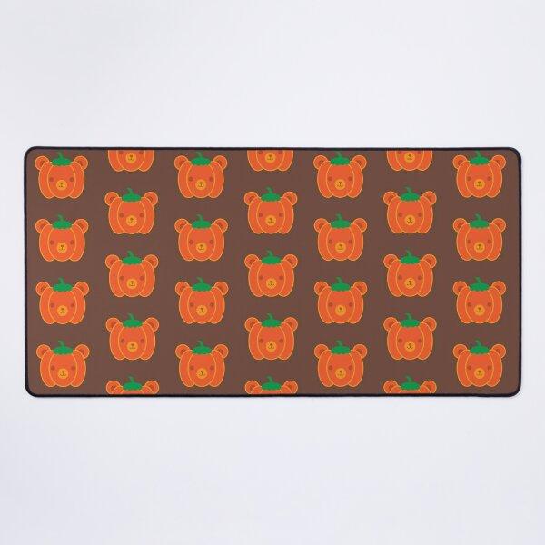Kawaii Halloween Pumpkin Bear Desk Mat