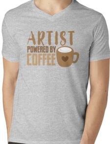 ARTIST powered by coffee Mens V-Neck T-Shirt