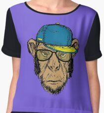 Fashion Portrait of Monkey Hipster Chiffon Top