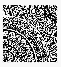 Black & White Boho Mandalas Photographic Print