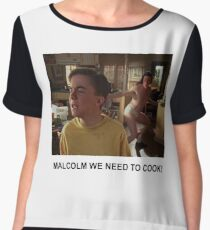 Malcolm We Need To Cook Chiffon Top