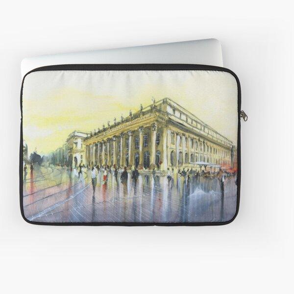 Le Grand Théâtre - Bordeaux - Watercolor Laptop Sleeve