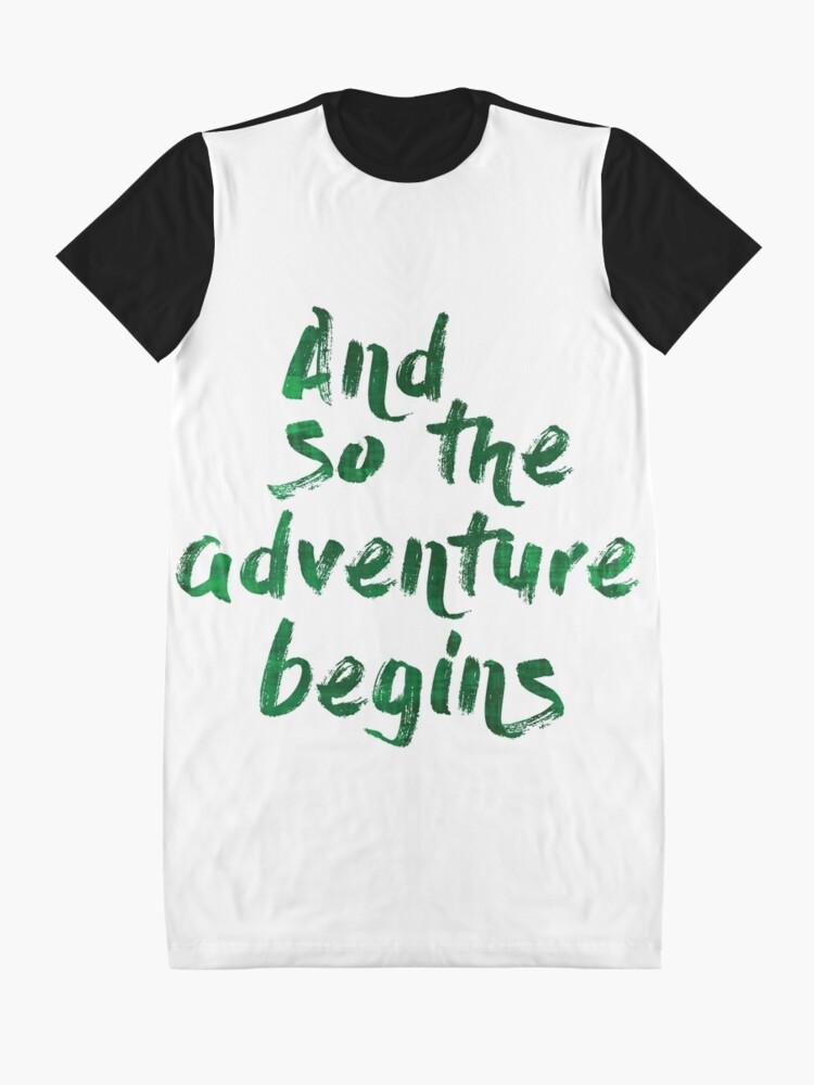 Vista alternativa de Vestido camiseta And so the adventure begins