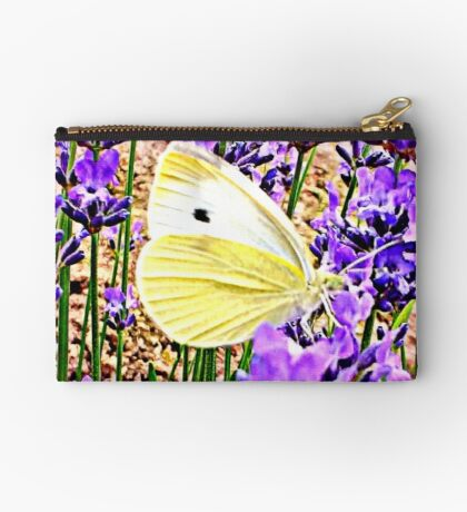 Large White on Lavender Studio Pouch