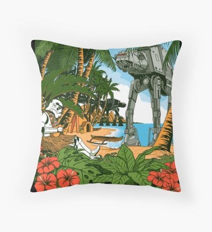 Greetings from Scarif Throw Pillow