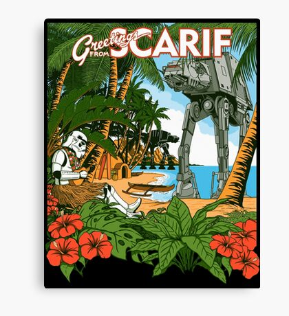Greetings from Scarif Canvas Print