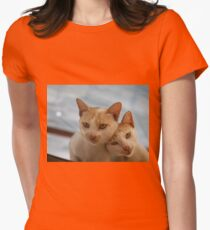 COUPLE CATS Womens Fitted T-Shirt