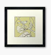 Bird on Orchid Cactus Framed Print