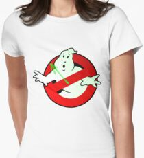 Who Busts The Ghost Busters? (logo) v3 Women's Fitted T-Shirt