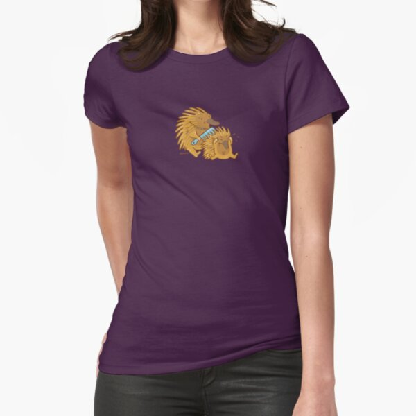 Aussie Echidna Fitted T-Shirt