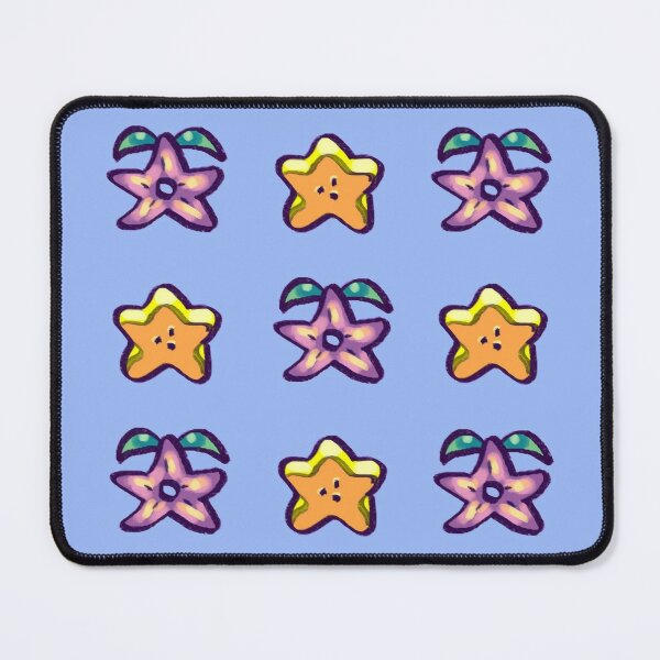 I draw bunch of stardrop and starfruit pattern / stardew valley Mouse Pad