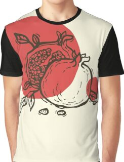 Pomegranates linocut T-shirt Graphique