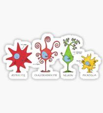 Meet your brain cells! - WIDE Sticker