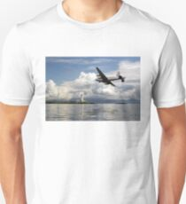 Shackleton over Lismore lighthouse Unisex T-Shirt
