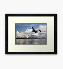 Shackleton over Lismore lighthouse Framed Print