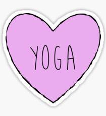 Yoga Heart Sticker