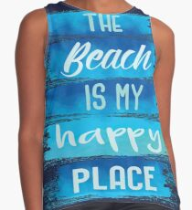 The Beach is My Happy Place Contrast Tank