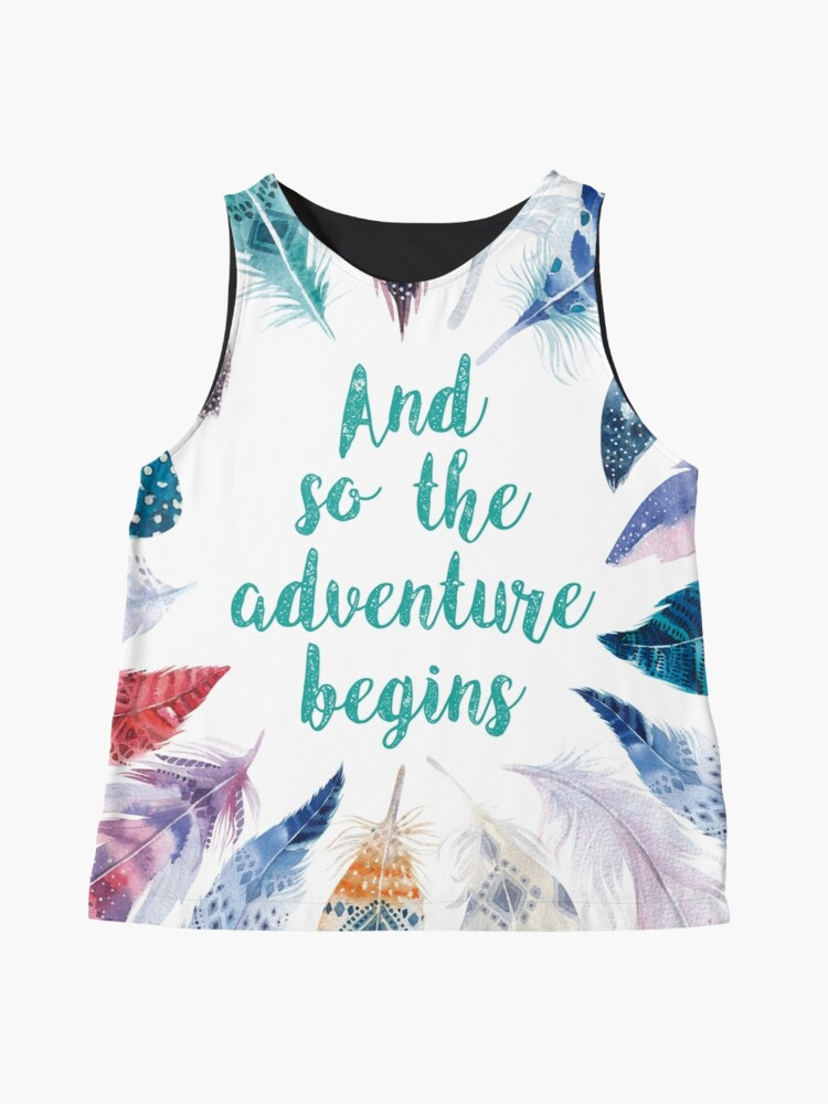 Vista alternativa de Blusa sin mangas Feathers, And so the adventure begins