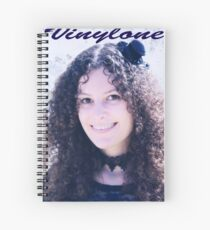 Vinylone and the Girl with fabulous smile, curls and cute eyes made by Blunder Spiral Notebook