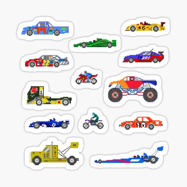 Sports Vehicles - The Kids' Picture Show Sticker