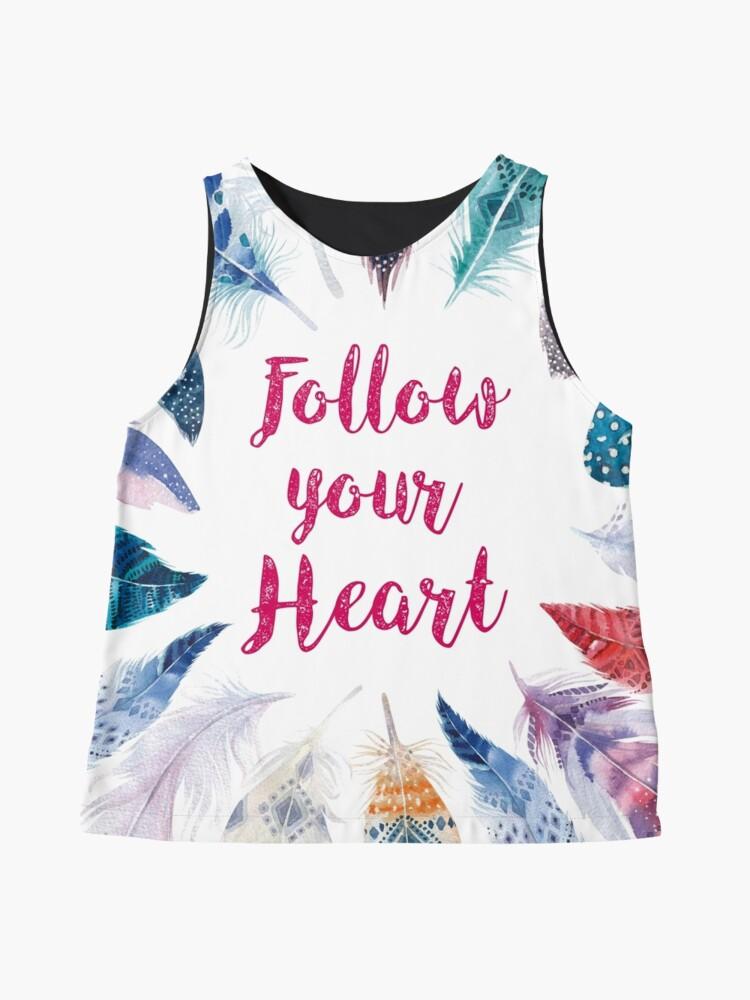 Vista alternativa de Blusa sin mangas Feathers, Follow your heart