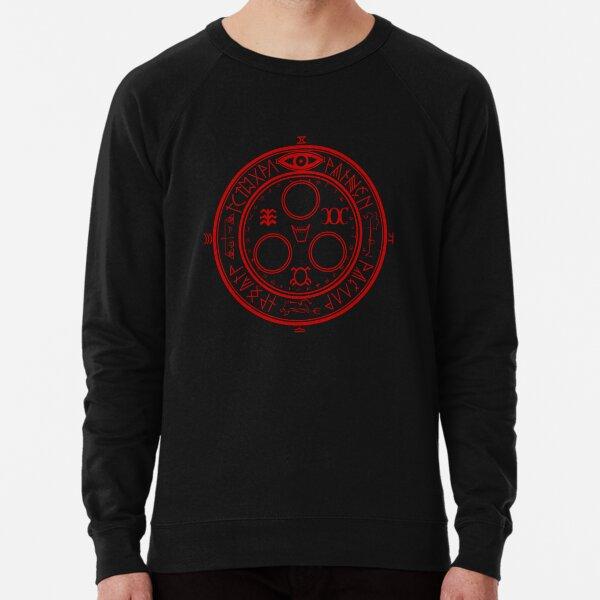 Red pentagram sweatshirt pentagramme satan Crowley Hexagram Beast sweat pull